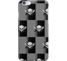 Wing Skull - WHITE & BLACK (Pattern 2) iPhone Case/Skin
