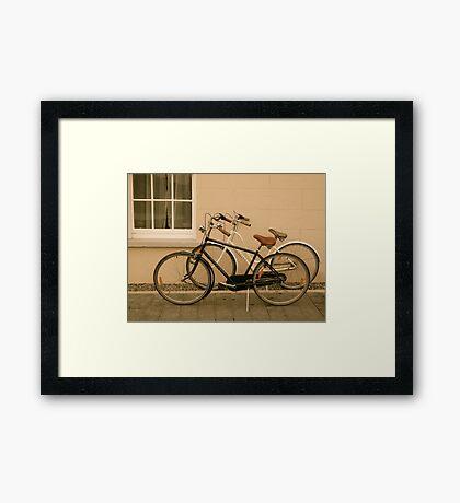 Bikes, Marter Castle, Ireland Framed Print