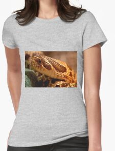 Hognosed Snake Up Close Womens Fitted T-Shirt