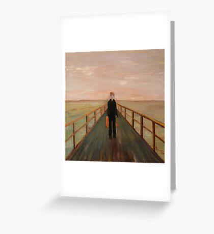 Arrival - Original Oil Painting Greeting Card
