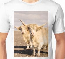 Big Woolly Fawn Highland Cows Unisex T-Shirt