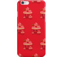 Strawberry Cupcake Family (Pattern 2) iPhone Case/Skin