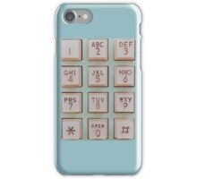 Vintage Telephone Buttons iPhone Case/Skin