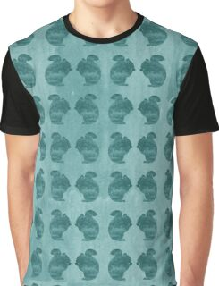 Squirrel Aqua Graphic T-Shirt