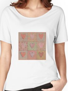 Hearts on kraft Women's Relaxed Fit T-Shirt