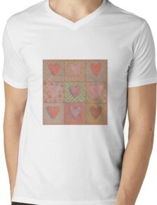 Hearts on kraft Mens V-Neck T-Shirt