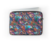 Liquid Abstract Flowing Swimming Intense Colors Laptop Sleeve