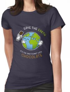 Save Chocolate Womens Fitted T-Shirt