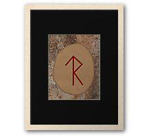 Legal Success Bind Rune Framed Print