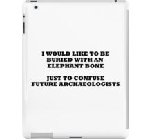 archaeologists 2 iPad Case/Skin