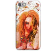 Ginger Woman With Tattoos (nude / risque) iPhone Case/Skin