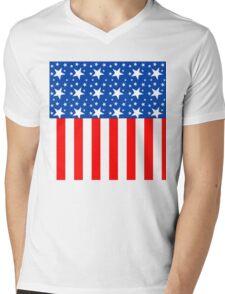 American Flag Stars and Stripes Mens V-Neck T-Shirt