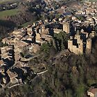 Flying on Castell'Arquato Castle by Alessandra Antonini