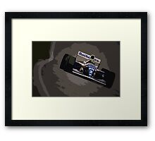 Ayrton Senna - Williams FW16 Framed Print
