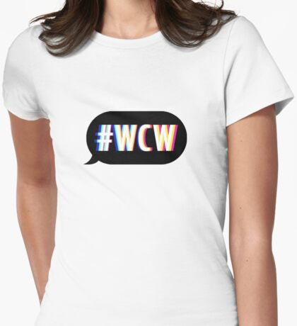 #WCW Womens Fitted T-Shirt