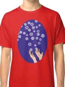 First Snow Night Snowflakes Classic T-Shirt