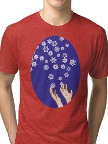 First Snow Night Snowflakes Tri-blend T-Shirt
