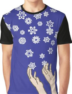 First Snow Night Snowflakes Graphic T-Shirt