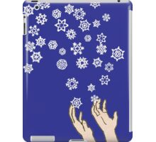 First Snow Night Snowflakes iPad Case/Skin