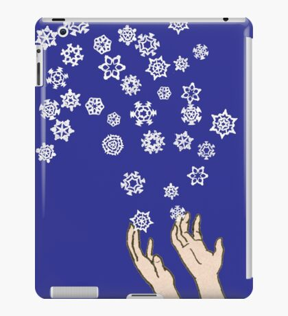 First Snow Night Snowflakes iPad Case/Skin