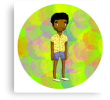 Black Male In Short Shorts, I'm Double Suspect Canvas Print
