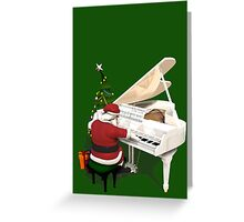 Santa Claus Piano Player Greeting Card