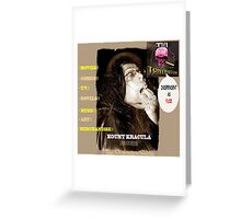 Title: Kount Kracula Review Showcase TV Show Promo Poster Art #2 -Hollyweird, Toronto, Canada Greeting Card