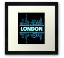 London City UK (Blue) Framed Print