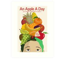 An Apple A Day- Health Poster Art Print