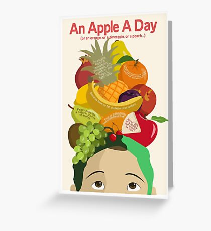 An Apple A Day- Health Poster Greeting Card