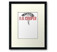 I Am DB Cooper - White Dirty Framed Print