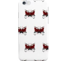 Guns and Roses Red (Pattern) iPhone Case/Skin