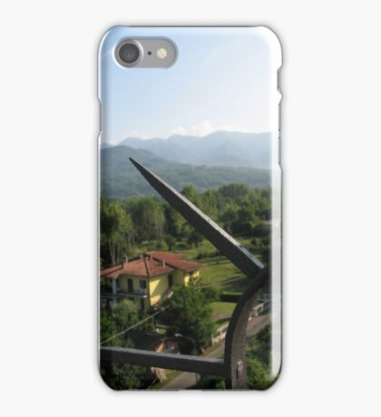 View through Spiked Fence iPhone Case/Skin