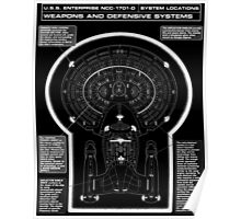 U.S.S Enterprise NCC-1071-D Weapons and Defensive Systems Poster