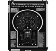 U.S.S Enterprise NCC-1071-D Weapons and Defensive Systems iPad Case/Skin