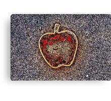 Apple on the Beach - part 8 Canvas Print
