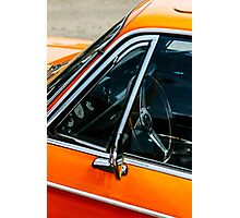 Orange Vintage Car Photographic Print