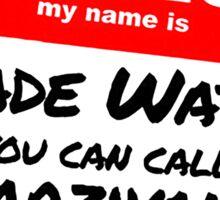 Parzival Name Tag Sticker