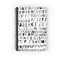 Alphabet in all the styles Spiral Notebook
