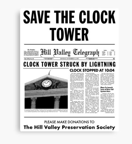 Save the clock tower fan art Canvas Print