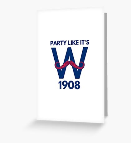 Chicago Cubs World Series Winners 2016 1908 Greeting Card