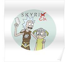 Skyrick- Rick and Morty Skyrim parody Poster