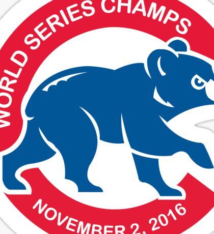 Chicago Cubs World Series Champions November 2, 2016 Cub 2 Sticker