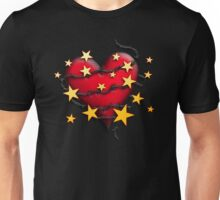 Barbed Wire Heart and Stars Unisex T-Shirt