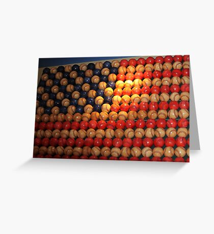 Stars and Stripes baseball style..... Greeting Card