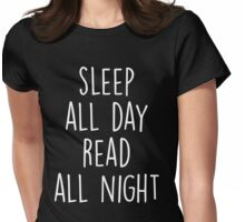Sleep All day Read All Night T-Shirt  Womens Fitted T-Shirt