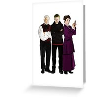 Doctor Who - The Three Masters Greeting Card