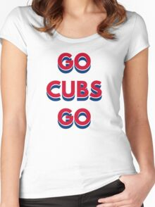 Go Cubs Go Chicago Cubs Women's Fitted Scoop T-Shirt