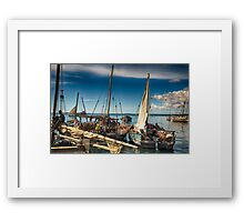 Dhow Boats Africa Framed Print