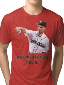 Bill Nye Bustin' Caps Tri-blend T-Shirt